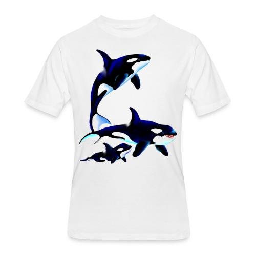 Killer Whale Family - Men's 50/50 T-Shirt