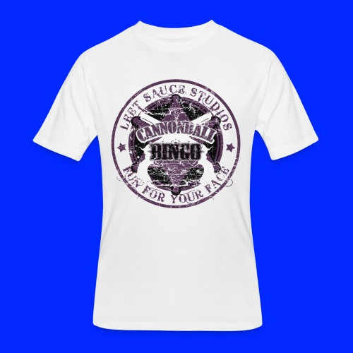 Vintage Cannonball Bingo Badge All Purple - Men's 50/50 T-Shirt