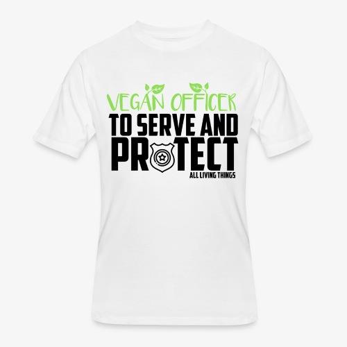 vegan officer - Men's 50/50 T-Shirt