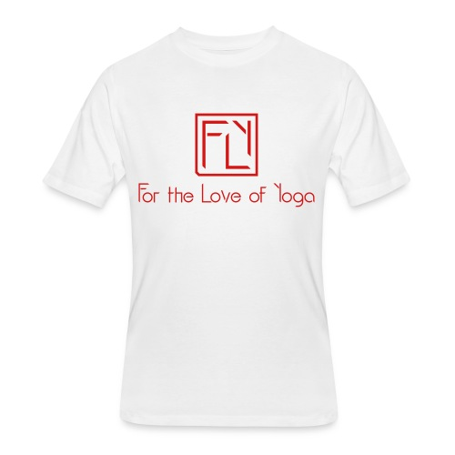 For the Love of Yoga - Men's 50/50 T-Shirt