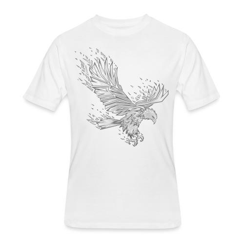 Fractured Raptor Grey - Men's 50/50 T-Shirt