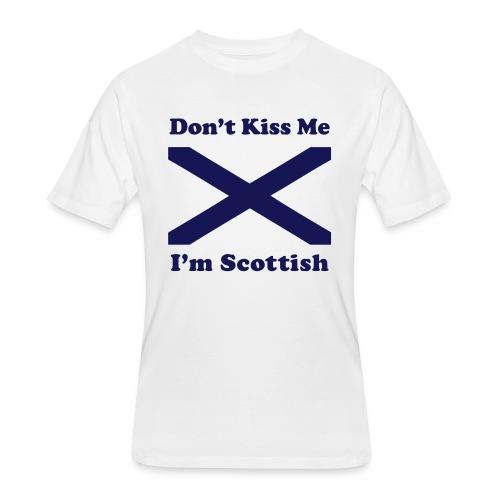 Don't Kiss Me, I'm Scottish - Men's 50/50 T-Shirt