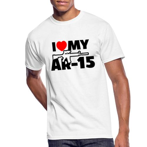 I LOVE MY AR-15 - Men's 50/50 T-Shirt