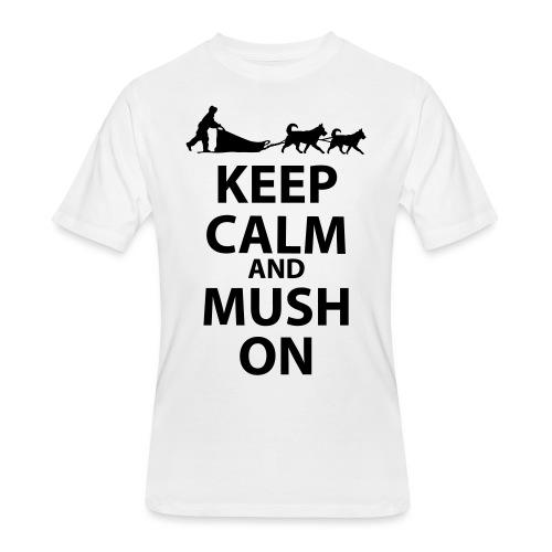 Keep Calm & MUSH On - Men's 50/50 T-Shirt