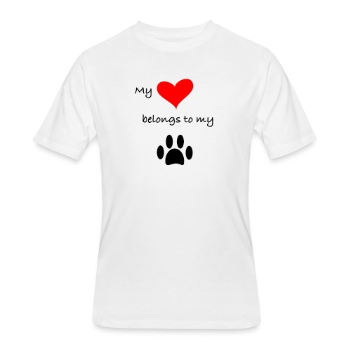 Dog Lovers shirt - My Heart Belongs to my Dog - Men's 50/50 T-Shirt