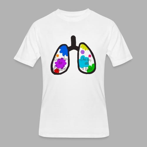 Remember to Breathe - Men's 50/50 T-Shirt