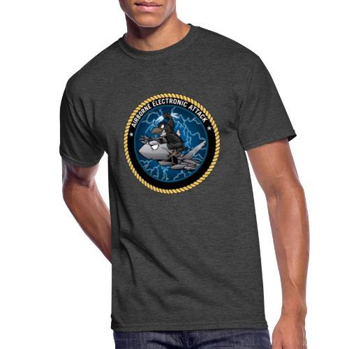 Airborne Electronic Attack EA-18 Growler Cartoon - Men's 50/50 T-Shirt
