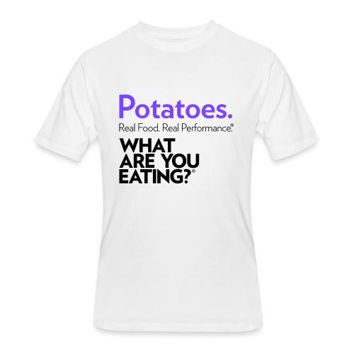 Potatoes. Real Food. Real Performance. - Men's 50/50 T-Shirt