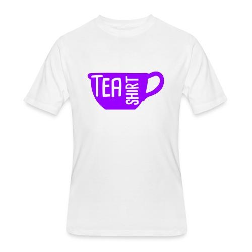 Tea Shirt Purple Power of Tea - Men's 50/50 T-Shirt