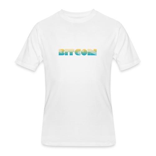 Bitcoin Art Deco Design - Men's 50/50 T-Shirt