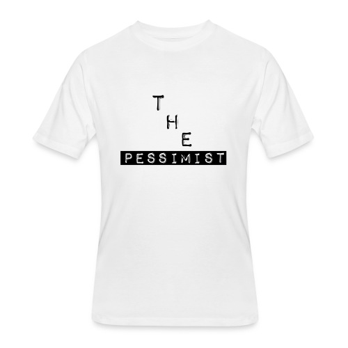 The Pessimist Abstract Design - Men's 50/50 T-Shirt