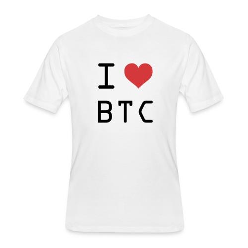 I HEART BTC (Bitcoin) - Men's 50/50 T-Shirt