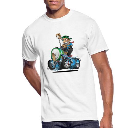 Hot Rod Electric Car Cartoon - Men's 50/50 T-Shirt