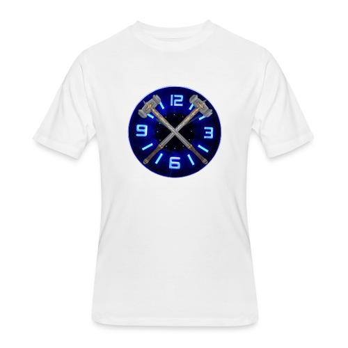 Hammer Time T-Shirt- Steel Blue - Men's 50/50 T-Shirt