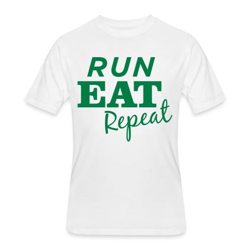 Run Eat Repeat buttons medium - Men's 50/50 T-Shirt
