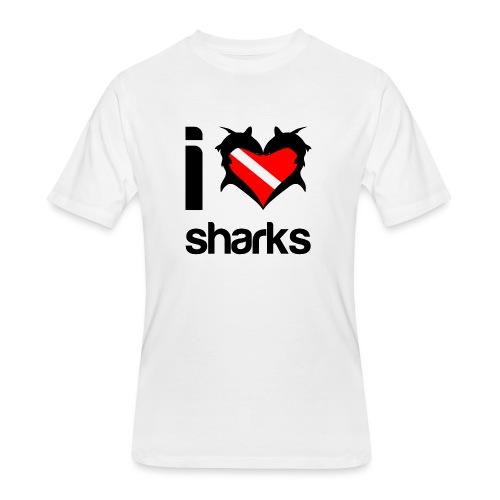 I Love Sharks - Men's 50/50 T-Shirt