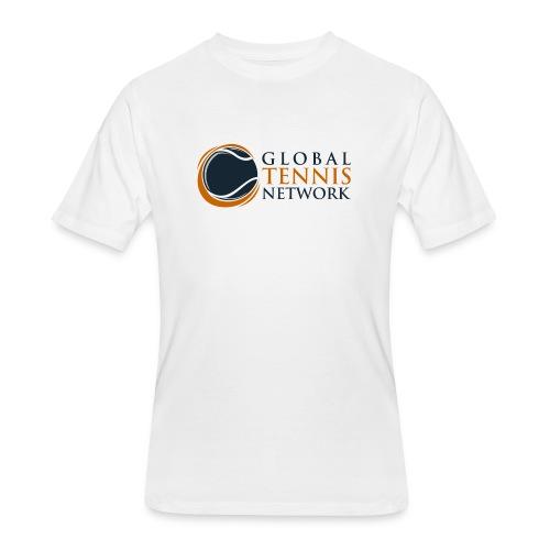 Global Tennis Network on White - Men's 50/50 T-Shirt