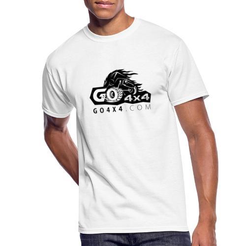 go bw white text black - Men's 50/50 T-Shirt