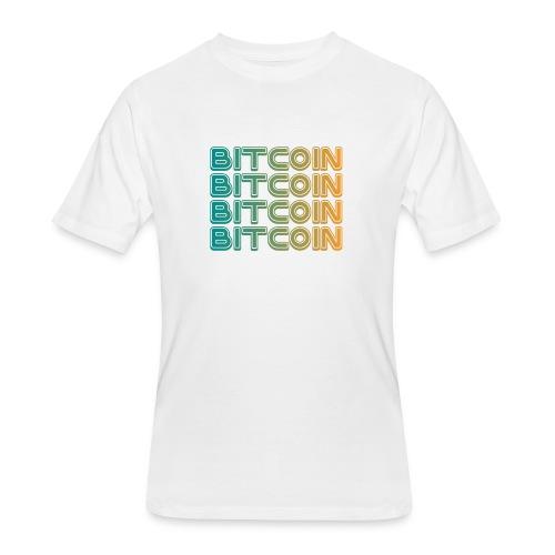 Bitcoin Art Deco Tshirt - Men's 50/50 T-Shirt