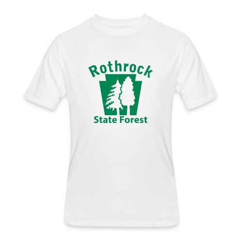 Rothrock State Forest Keystone (w/trees) - Men's 50/50 T-Shirt
