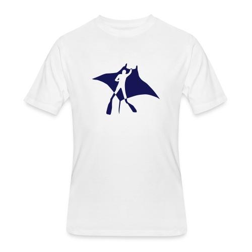 manta ray sting scuba diving diver dive fish ocean - Men's 50/50 T-Shirt