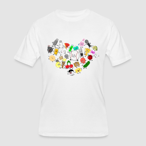 Inanimate Heart Color - Men's 50/50 T-Shirt