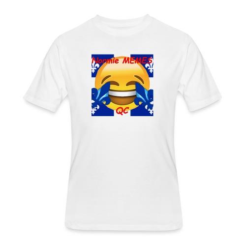 T-Shirt Normie Memes QC BLEU ROI - Men's 50/50 T-Shirt