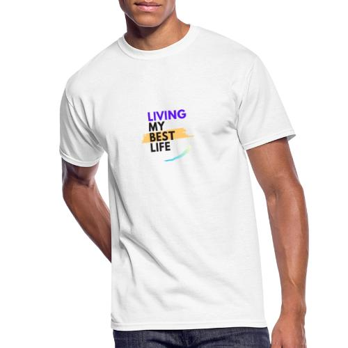 living my best life - Men's 50/50 T-Shirt