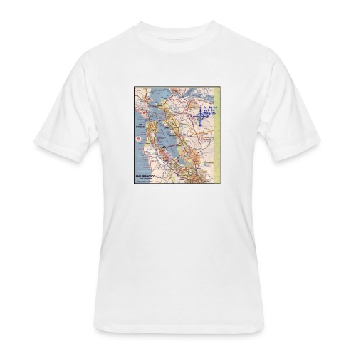 Phillips 66 Zodiac Killer Map June 26 - Men's 50/50 T-Shirt