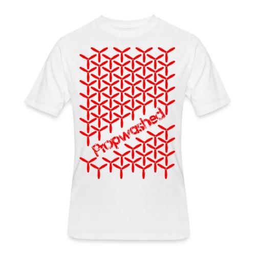 Propwashed Prop Pattern (Red-Red) - Men's 50/50 T-Shirt