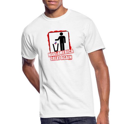 MAGA TRASH DEMS - Men's 50/50 T-Shirt