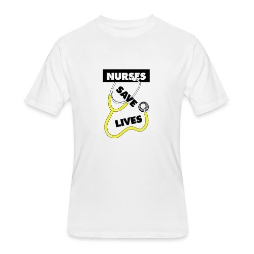 Nurses save lives yellow - Men's 50/50 T-Shirt