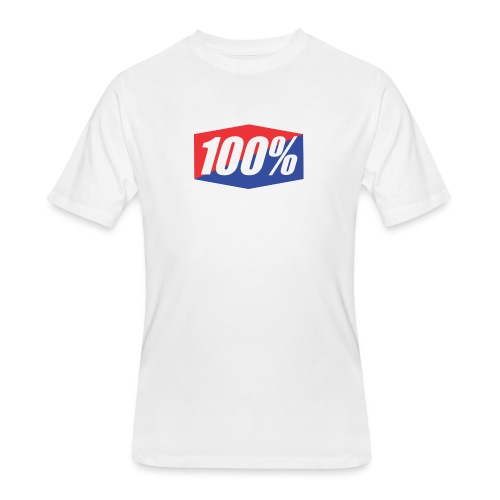 100% Logo Design - Men's 50/50 T-Shirt