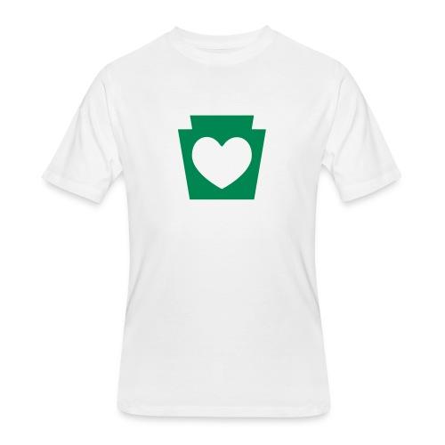 Love/Heart PA Keystone - Men's 50/50 T-Shirt