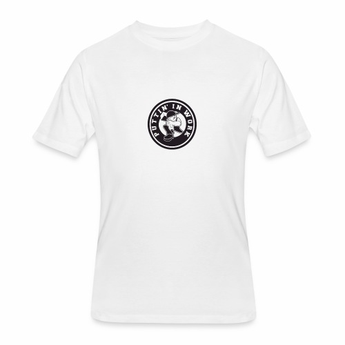 Solid Puttin' In Work Logo - Men's 50/50 T-Shirt