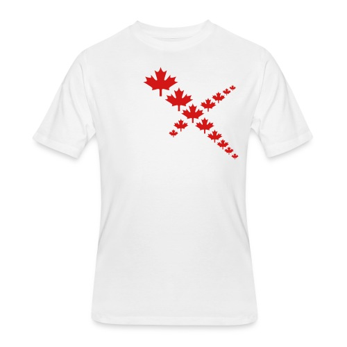 Maple Leafs Cross - Men's 50/50 T-Shirt