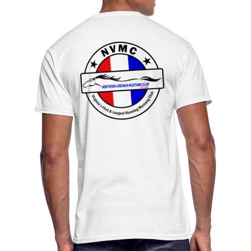 Circle logo t-shirt on white with black border - Men's 50/50 T-Shirt