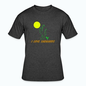 I Love Saguaros - Men's 50/50 T-Shirt