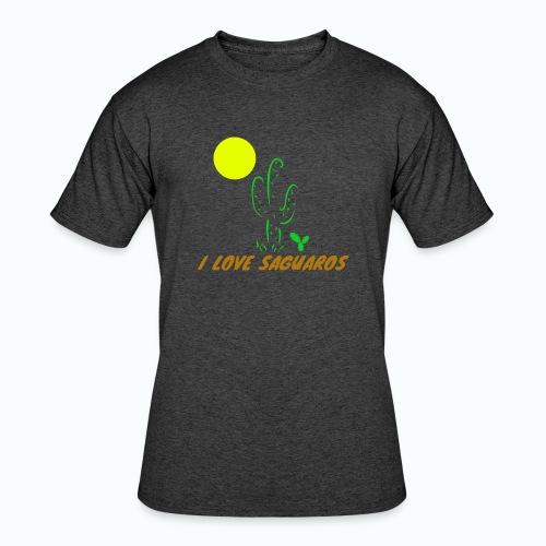 I Love Saguaros - Men's 50/50 T-Shirt