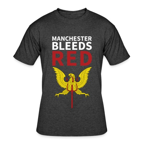 Manchester Bleeds RED - Men's 50/50 T-Shirt