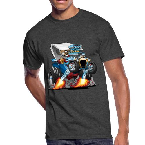 Custom T-bucket Roadster Hotrod Cartoon - Men's 50/50 T-Shirt