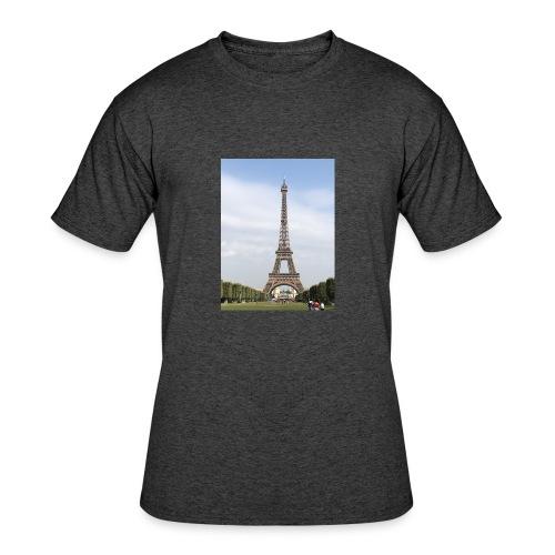 Eiffel Tower Paris, France - Men's 50/50 T-Shirt