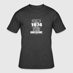 Born in 1974 43 Years of Being Awesome - Men's 50/50 T-Shirt