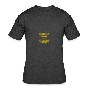 tshirt_pilotVersion_nologo_gold - Men's 50/50 T-Shirt