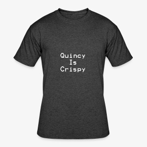 QuincyIsCrispy Text Logo (White) - Men's 50/50 T-Shirt