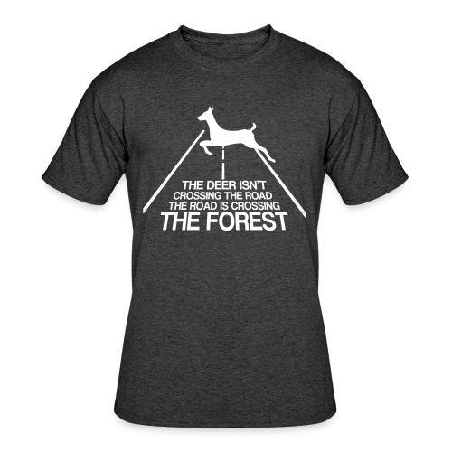 Deer's forest white - Men's 50/50 T-Shirt