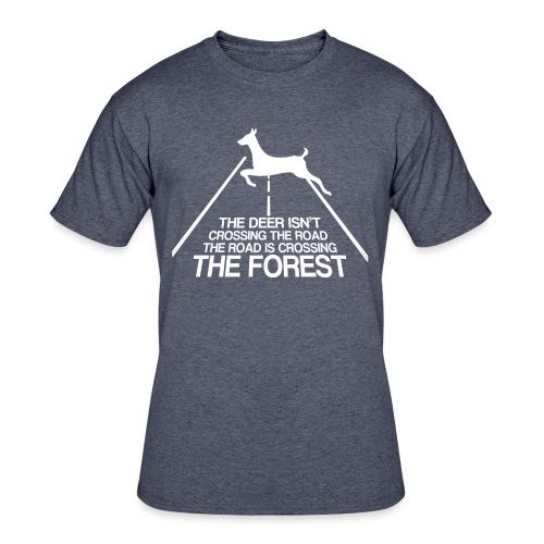 Deer's forest white - Men's 50/50 T-Shirt