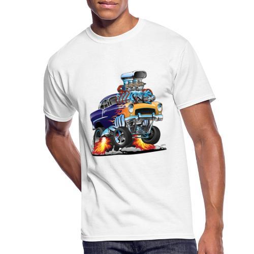 Classic Fifties Hot Rod Muscle Car Cartoon - Men's 50/50 T-Shirt