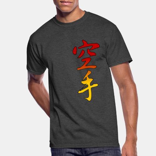 Karate Kanji Red Yellow Gradient - Men's 50/50 T-Shirt