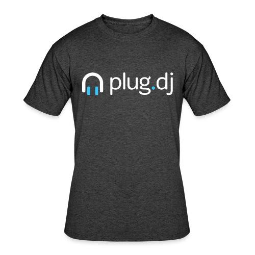 plugdj logo white png - Men's 50/50 T-Shirt